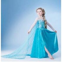 Fantasia Disney Elza Frozen - No Brasil Pronta Entrega