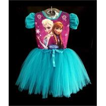 Vestido Frozen Fantasia Festa Bailarina