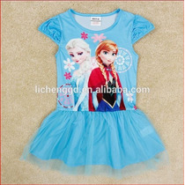 Vestido Frozen De Baile - Pronta Entrega