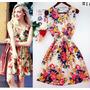 Vestido Verão Chiffon Floral Diversas Estampas Importado