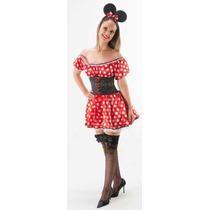 Fantasia Adulto Vestido Minnie Carnaval Minie Luxo - Corpete