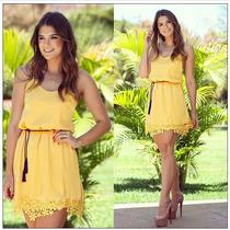 Vestido De Renda Tropical Plus Size Mulheres