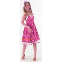 Fantasia Adulto Vestido De Bolinhas Anos 50 Anos 60 - Poá