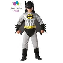 Fantasia Luxo Menino Batman Marvel Super Heróis