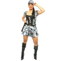 Fantasia De Policial Camuflada Sexy,swat,fbi,tropa De Elite