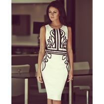 Maravilhoso Vestido Importado Com Estampa Frontal