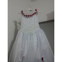 Vestido Para Florista E Daminhas Infantil Novo