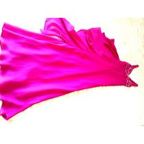 Vestido De Gala Festa Longo Bordado Rosa Pink