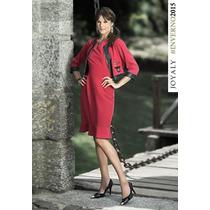 Vestido C/ Casaco Joyaly (38 Ao 46) - Pura Flor M Evangélica