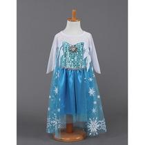 Vestido Importado Elsa Frozen - Pronta Entrega Até 6 Anos