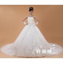 Vestido Noiva Calda Longa Lindo Modelo Pronta Entrega Oferta