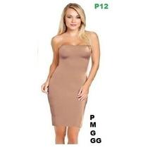 Anágua Vestido Segunda Pele Modelador Cinta M G Gg Body Maiô