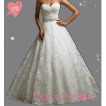 Vestido De Noiva Debutante Renda G Gg Pronta Entrega