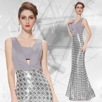 Maravilhoso Vestido Ever Pretty Único No Ml Mod 8249