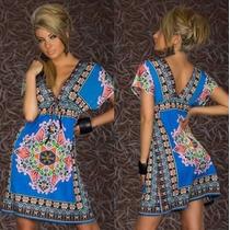 Vestido Hippie Chic Plus Size Lindo Exclusivo No Brasil