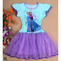 Vestido Importado De Criança Elsa E Ana Frozen