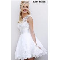 Vestido Noiva E Debutante Curto - Feito Sob Medida/encomenda