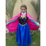 Vestido Fantasia Ana Frozen Tamanho 1 Ao 14 Sob Medida