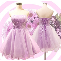 Vestido Curto Debutante 15 Anos Festa Princesa Barato