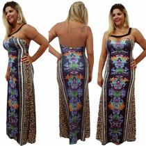 Vestido Longo Com Pedraria E Tule Six One - Ref:6140029