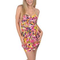 Vestido Feminino Riu Kiu Tropical Tomara Que Caia Rosa