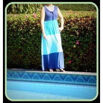 Vestido Longo Tradicional De Viscolycra 3 Cores.