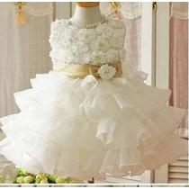 Vestido Luxo Batizado/festa E Casamento - Pronta Entrega !
