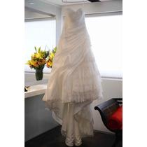 Vestido Noiva Rosa Clará Com Detalhes De Renda, Tam 44
