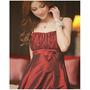 Vestido Delicado Vermelho Escuro - Bordô - Com Lacinho