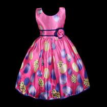 Vestido Infantil Festa/casamento/aniversario Estampado