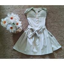 Vestido Rodado Cor Caqui Com Bojo Festa Formatura Casamento