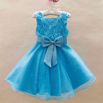 Vestido Festa Luxo Frozen Com Tiara Princesa Pronta Entrega