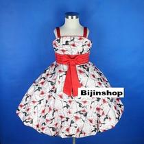 Vestido Infantil Festa Princesa/florista Florido 6,8 E 10