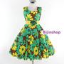 Vestido Infantil Festa Flores