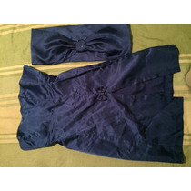 Vestido Acetinado Azul Tam 36