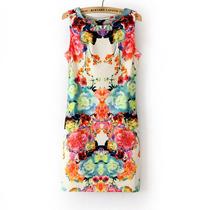 Vestido Floral C/lycra Tamanho M(40)importada Pronta Entrega