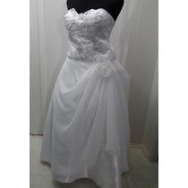 Vestido De Noiva Tam 52 Ao 56 - Frete Gratis