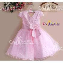 Vestido De Festa Infantil - Importado - Com Tiara