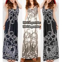 Vestido Longo Verao Trendy Malha Geladinho Moda Evangelica