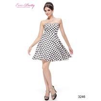 Gracioso Vestido Importado Ever Pretty Estilo Vintage 3246