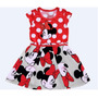 Vestido Festa Infantil Minnie, Aniversário Pronta Entrega