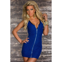 Vestido Azul Sexy Importado Pronta Entrega No Brasil