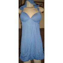 Vestido Azul Com Capuz,bojo,transpassado,planet Girls,tam P