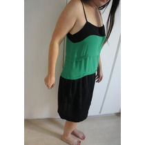 Vestido Preto E Verde Para Qualquer Ocasiao G Soltinho