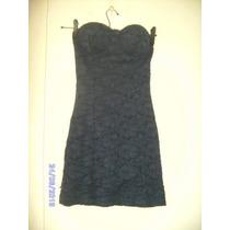 Vt048 - Vestido Layse Azul Marinho Manequim Pp Da Hbf