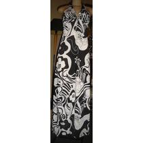 Vestido Longo ,preto,branco,prata, Tam 40- Forrado