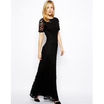 Vestido Eg- Importado Elegante Longo C/ Decote Costas Renda