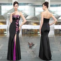 Vestido Importado Festa Formatura Luxo Preto Roxo Everpretty