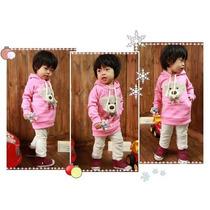 Blusão Infantil Aflanelado - Urso Rosa - Produto Importado