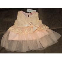 Vestido De Bebê - Importado - Tam: 7-9 Meses E 10-12 Meses